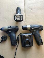 Panasonic twin set EY7430 drill driver & EY7530 impact driver 10.8V volt