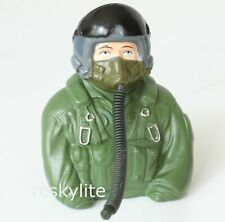 1/6 RC Model Airplane Scaled Jet Pilot Figure - Green - L77×W35×H76mm