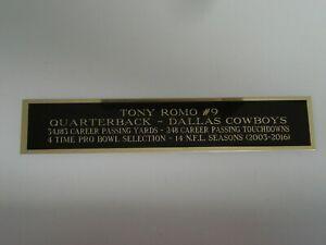 "Tony Romo Football Card Dallas Cowboys Display Case Nameplate 1.5"" X 8"""