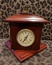 BOMBAY CHERRY WOOD  DESK SPIN BAROMETER, CLOCK ,HYGROMETER, THERMOMETER