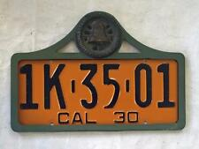 Automobile of Southern California License Plate Frame 1929-1939 Original Badge