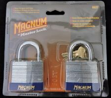 "2-pack Master Lock Magnum Padlock Case Hardened Steel Shackle 803T 1-1/2"" Wide"