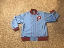 Phillies Cooperstown Mitchell & Ness Jacket 1980 Championship Blue Mens Medium