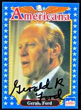 Gerald Ford Autographed Card