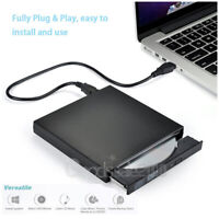 Black USB 2.0 External DVD-R CD±RW Combo Burner Drive DVD ROM For Desktop Laptop