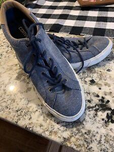 Unisex Converse Jack Purcell Blue Textile Lace Up Sneakers Men's 7 Women's 8.5