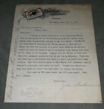 1913 Buckeye Beer Toledo Ohio letter on Letterhead Pre Prohibition unpaid bill