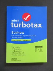 GENUINE 2020 Intuit TurboTax Business Federal For Windows Disc or Download
