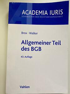 Allgemeiner Teil des BGB von Brox und Walker (Taschenbuch)