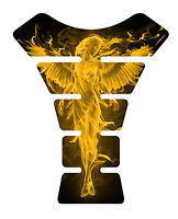 Fire Angel Yellow Motorcycle Sportbike Gel Gas tank pad tankpad protector Decal
