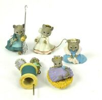 Vintage Miniature Mice Mouse Figures Whimsical Replacements Enesco 1991