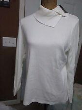 Rafaella Studio Pullover Sweater Sz M Cream