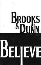 "BROOKS & DUNN 2006 ""BELIEVE"" 5 1/2"" x 8 1/2"" GATEFOLD PROMO CARD FOR CMA's"