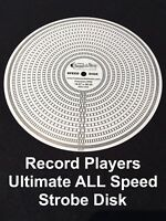 Turntable Strobe ALL Speed Disk For Record Players, Best RPM Disc Made USA 60Hz