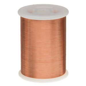 """42.5 AWG Gauge Enameled Copper Magnet Wire 1.0lbs 55635' Length 0.0025"""" 155C Nat"""