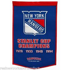 NEW YORK RANGERS STANLEY CUP CHAMPIONS DYNASTY BANNER LEETCH MESSIER RICHTER