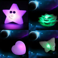 New Wedding Party Decor 7 Color Change Cute LED Night Lamp Light Kid Gift Toy