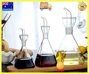 Glass Table Seasoning Bottle Kitchen Oil Dispenser Soy Sauce Vinegar Dispenser