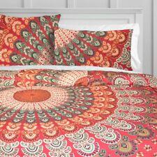 Red Hippie Mandala & Bohemian KING Size Duvet Quilt Cover Set Pillow Covers