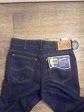 VTG Lee Riders Dark Indigo Denim Jeans 31x34 Made in USA Regular Fit Boot Cut CL
