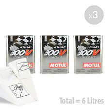 Car Engine Oil Service Kit / Pack 6 LITRES Motul 300V Chrono 10W-40 6L