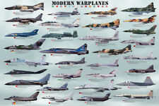 Modern Warplanes Poster Print, 36x24
