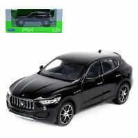 Welly 1:24 Maserati Levante Black Diecast Model Car Vehicle New in Box
