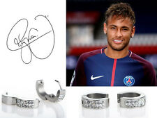 Men's/Boy's: NEYMAR 18ct White Gold Plate Crystal Diamond Effect Huggie Earrings