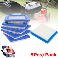 5Pcs Flat Air Filter Lawn Mower For Briggs & Stratton 491588 491588S 399959
