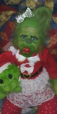 Reborn hybrid GREEN CHRISTMAS YETI BABY ARTIST doll alternative mythical GRINCH