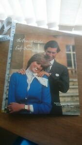 Prince Of Wales And Lady Diana Spencer Ring Binder Princess Diana Collectable...