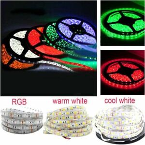 1m 5m LED Strip Light Flexible lights Tape RGB White Warm 5050 12V 60/120leds/m