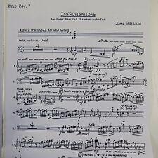 John Tartaglia piezas para improvisaciones para contrabajo & Chamber Orchestra 1988