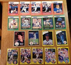 1980's 90s NEW YORK METS Starting Lineup Baseball Card Lot Strawberry Carter WOW