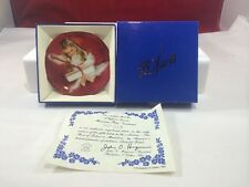 A Gift for Laurie Pemberton & Oakes Mini Collector Plate Mib w/ Coa 3 1/4 inch
