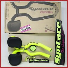 NOS SYNTACE C2CLIP AERO BARS AEROBARS TIME TRIAL ROAD BIKE VINTAGE 90s SIZE S C2