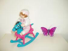 Mini Baby Born Puppen Schaukelpferd Spielzeug für Babypuppe ~ 12 cm Puppenstube