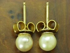 14kt 585 Yellow Gold Studs with Akoya-Pearls Stocking/Earrings/