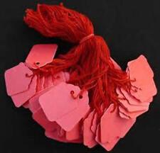 500 x 32 mm X 22mm Rosso Fabbrica stringa Tag Swing PREZZO BIGLIETTI TIE sulle etichette