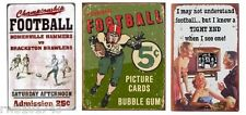 Vintage Football Rustic Topps Funny Tight End TIN SIGN home bar metal poster set
