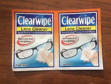50 x Clearwipes Lens Cleaner Pre Moistened Wipes - Single Use NEW