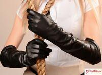 !BRAND NEW! Black  Long Leather Gloves! BRAND NEW!