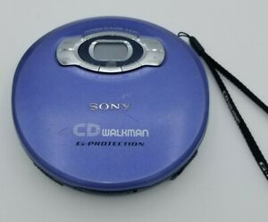 Sony Walkman D-EJ611 Portable CD Player G-Protection Blue - Tested