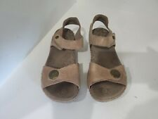 Taos Womens Brown Leather Ankle Strap Sandals Size 7 M