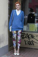NOS Pullover Damen gestrickt knitted blau blue 80er True VINTAGE 80´s Winter 90s