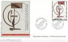1988 - ENVELOPPE - FDC 1°JOUR - ROBERT JACOBSEN - TIMBRE Yt. 931 DANEMARK
