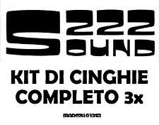 ★ KIT CINGHIE DI RICAMBIO 3 x PROIETTORE SUPER 8 mm SILMA S 222 SOUND ★