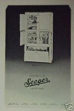 1928 Seeger Kitchen Cabinets/Refrigator Food Print Ad