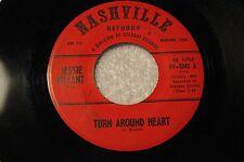 """JESSIE BRYANT 45rpm """"Turn Around Heart"""" & """"Blow Four"""" Nashville Starday Records"""