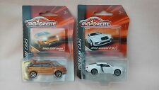 MAJORETTE PREMIUM CARS,VERY RARE BENTLEY CONTINENTAL & ORANGE RANGE ROVER EVOQUE